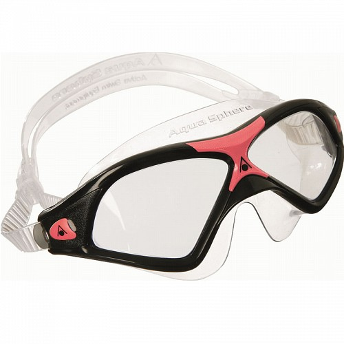 ΓΥΑΛΑΚΙΑ ΚΟΛΥΜΒΗΣΗΣ AQUA SPHERE SEAL XP 2 CLEAR LENS BLACK/RED