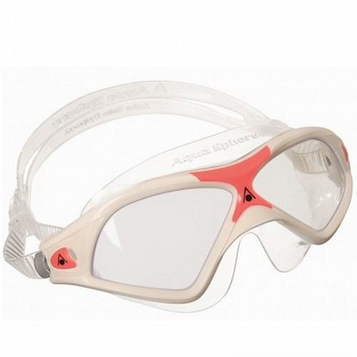 ΓΥΑΛΑΚΙΑ ΚΟΛΥΜΒΗΣΗΣ AQUA SPHERE SEAL XP 2 LADY CLEAR LENS WHITE/RED