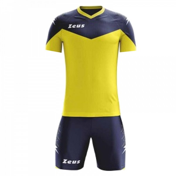 ΕΜΦΑΝΙΣΗ ΠΟΔΟΣΦΑΙΡΟΥ ZEUS SET ULYSSE SHORT SLEEVE YELLOW/BLUE