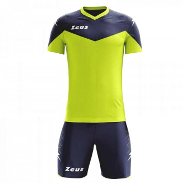 ΕΜΦΑΝΙΣΗ ΠΟΔΟΣΦΑΙΡΟΥ ZEUS SET ULYSSE SHORT SLEEVE YELLOW FLUO/BLUE