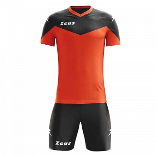 ΕΜΦΑΝΙΣΗ ΠΟΔΟΣΦΑΙΡΟΥ ZEUS SET ULYSSE SHORT SLEEVE ORANGE FLUO/BLACK