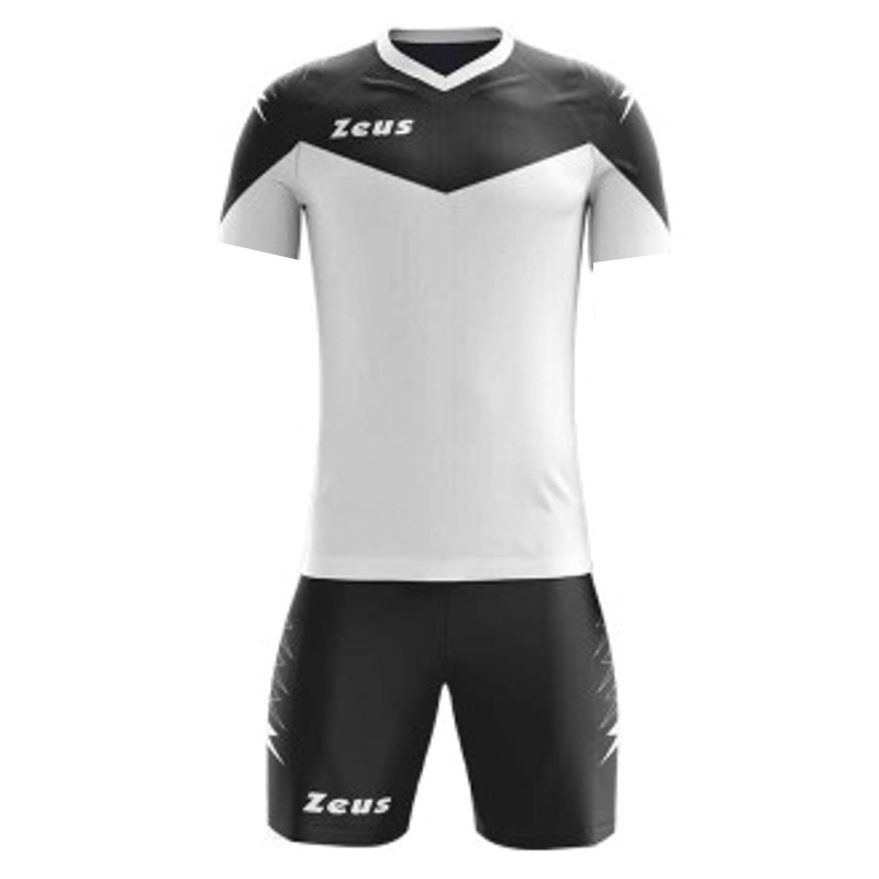 ΕΜΦΑΝΙΣΗ ΠΟΔΟΣΦΑΙΡΟΥ ZEUS SET ULYSSE  SHORT SLEEVE WHITE/BLACK
