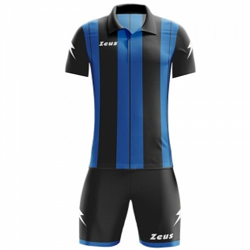 ΕΜΦΑΝΙΣΗ ΠΟΔΟΣΦΑΙΡΟΥ ZEUS SET PITAGORA SHORT SLEEVE BLACK/ROYAL