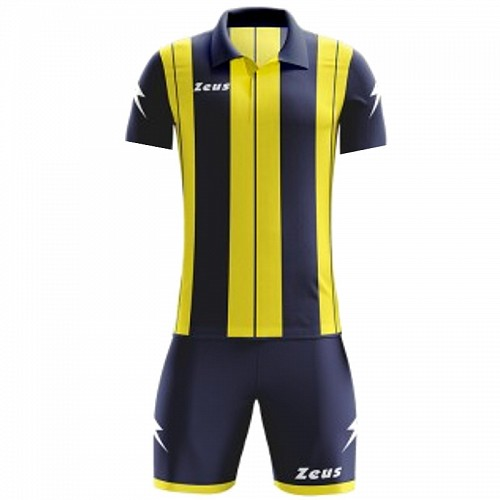 ΕΜΦΑΝΙΣΗ ΠΟΔΟΣΦΑΙΡΟΥ ZEUS SET PITAGORA SHORT SLEEVE NAVY/YELLOW