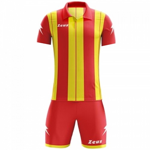 ΕΜΦΑΝΙΣΗ ΠΟΔΟΣΦΑΙΡΟΥ ZEUS SET PITAGORA SHORT SLEEVE RED/YELLOW