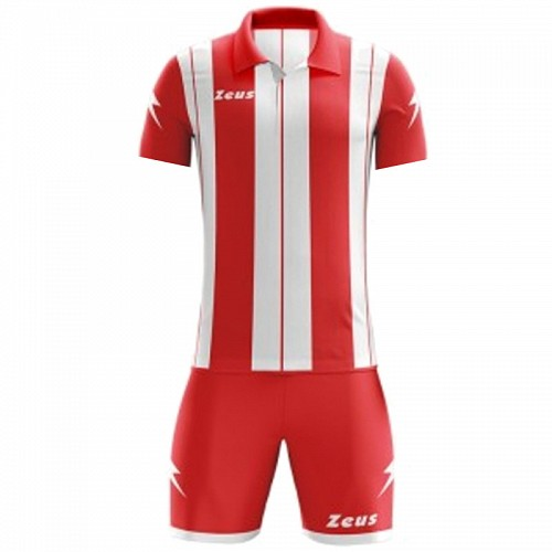 ΕΜΦΑΝΙΣΗ ΠΟΔΟΣΦΑΙΡΟΥ ZEUS SET PITAGORA SHORT SLEEVE RED/WHITE
