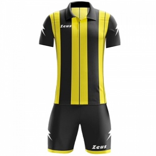 ΕΜΦΑΝΙΣΗ ΠΟΔΟΣΦΑΙΡΟΥ ZEUS SET PITAGORA SHORT SLEEVE BLACK/YELLOW