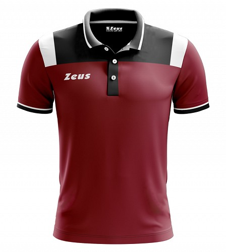 Μπλουζάκι Polo Zeus Vesuvio Bordo/Black