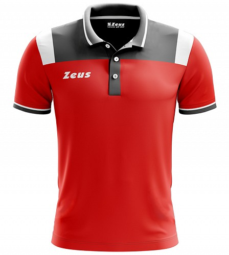Μπλουζάκι Polo Zeus Vesuvio Red/Grey