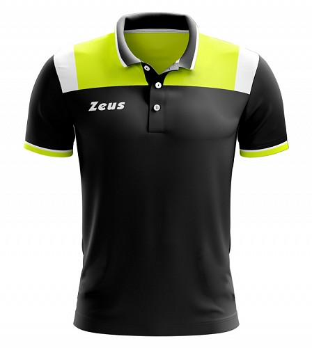 Μπλουζάκι Polo Zeus Vesuvio Black/Yellow Fluo