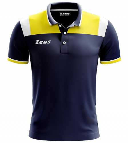 Μπλουζάκι Polo Zeus Vesuvio Blue/Yellow