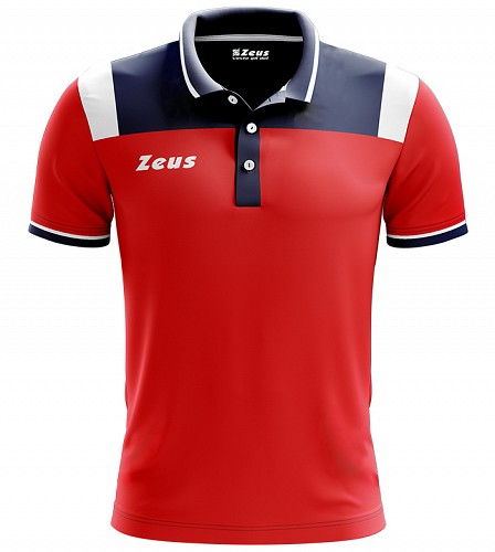 Μπλουζάκι Polo Zeus Vesuvio Blue/Red