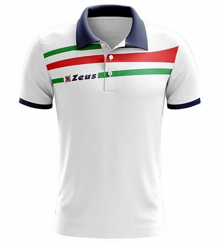 Μπλουζάκι Polo Zeus Itaca White/Blue