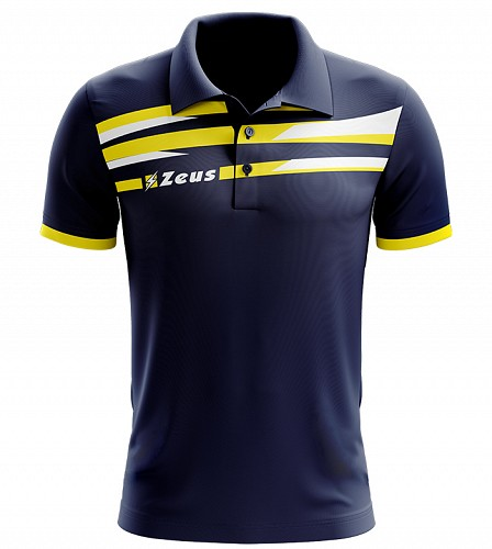 Μπλουζάκι Polo Zeus Itaca Blue/Yellow