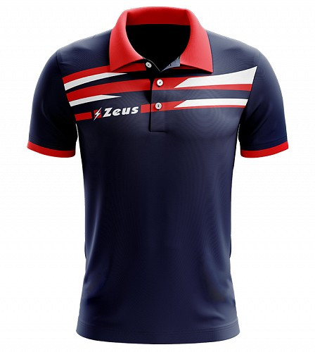 Μπλουζάκι Polo Zeus Itaca Blue/Red