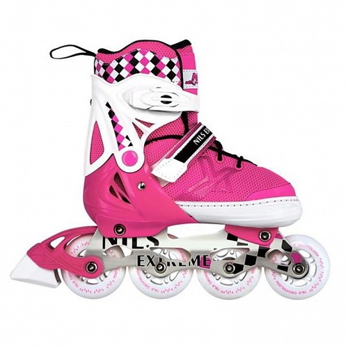 Roller Skates Ρυθμιζόμενα Nils Extreme NA 13911 A No31-34 Ροζ