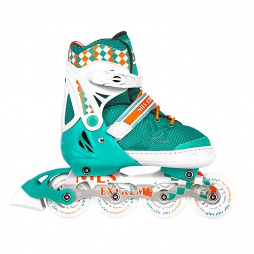 Roller Skates Ρυθμιζόμενα Nils Extreme NA 13911 A No31-34 Πετρόλ