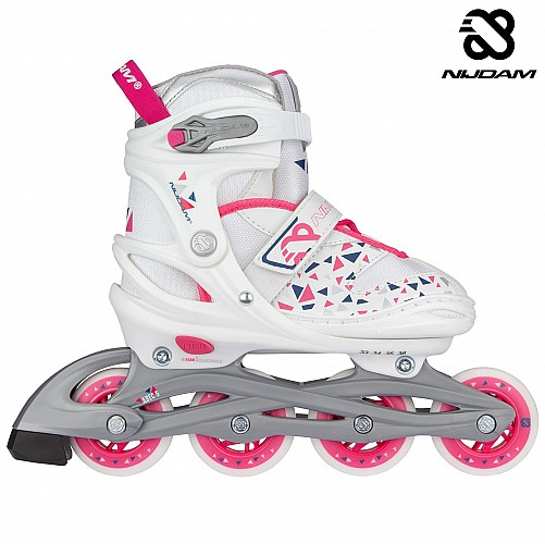 Inline Skates Ρυθμιζόμενα Nijdam White Wedge N20AA04