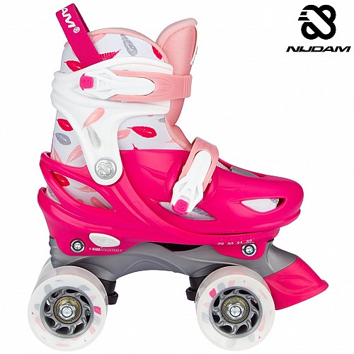 Roller Skates Ρυθμιζόμενα Nijdam Feather Drops N21AA02
