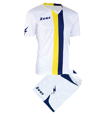 ΕΜΦΑΝΙΣΗ ΠΟΔΟΣΦΑΙΡΟΥ ZEUS SET B-NARIO SHORT SLEEVE YELLOW/BLUE