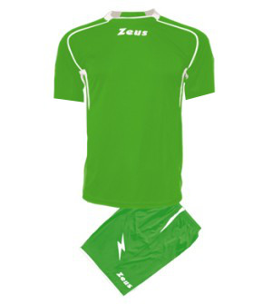 ΕΜΦΑΝΙΣΗ ΠΟΔΟΣΦΑΙΡΟΥ ZEUS SET SPARTA SHORT SLEEVE GREEN/WHITE