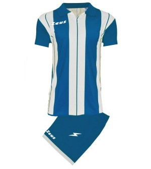 ΕΜΦΑΝΙΣΗ ΠΟΔΟΣΦΑΙΡΟΥ ZEUS SET PITAGORA SHORT SLEEVE ROYAL/WHITE