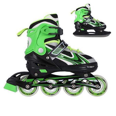 Roller Skates Σετ 2 Σε 1 Nils Extreme NH 18188 No34-38 Green